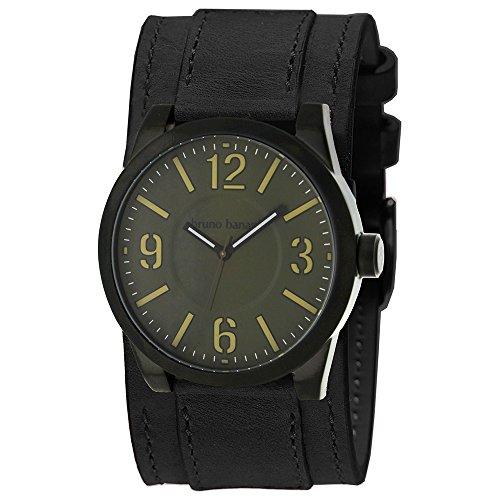 Bruno Banani BR26104–Armbanduhr Herren, Lederband schwarz