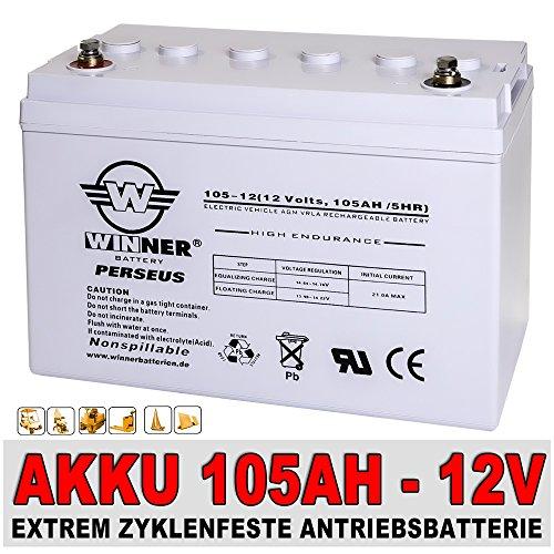 12V 105AH AGM Gel Batterie Boot Elektro Hubwagen Mover Golfcart Rangierhilfe