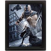 Batman - The Dark Knight Rises, 3D Poster Framed Póster 3D (enmarcado) (25 x 20cm)