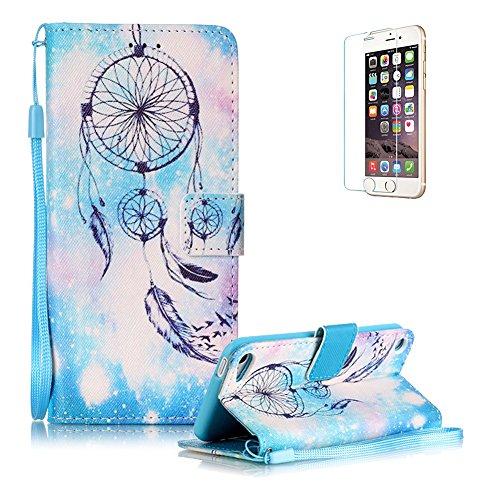 custodia-ipod-touch-6-touch-5-in-pellefunyye-acchiappasogni-piuma-disegni-elegante-libro-portafoglio