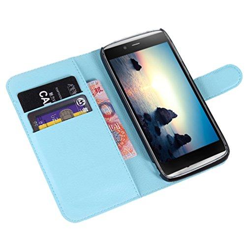 Manyip Téléphone Coque - PU Cuir rabat Wallet Housse [Porte-cartes] multi-Usage Case Coque pour pour Alcatel One Touch Idol Alpha OT6032 Classique Mode affaires Style(JFC2-6) C