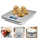 iKALULA Báscula Digital Cocina,Básculas de Cocina Inoxidable pequeña balanza de Alimentos electrónica con Pantalla LCD Escala de Cocina,5kg /11lbs para Hogares,Cocinas,Oficinas (2 Baterías Incluidas)