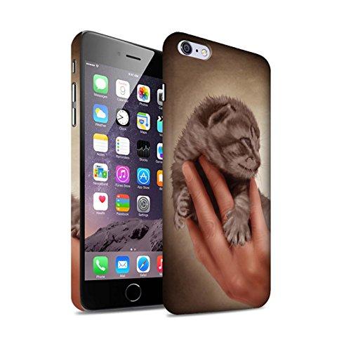 Officiel Elena Dudina Coque / Clipser Matte Etui pour Apple iPhone 6+/Plus 5.5 / Oui Maman/Lion/Petit Design / Les Animaux Collection Minou/Voir