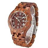 Orologio in legno collezione naturale Sandalo legno orologio con scatola regalo, orologio data display orologio BEWELL W109A stilista maschile