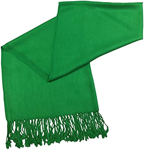 CJ Apparel Forest Green Solid Colour Design Shawl Pashmina Scarf Wrap Seconds NEW