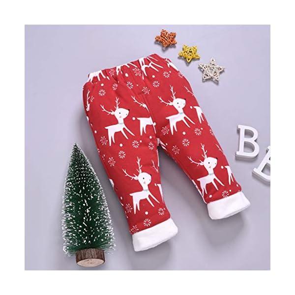 Shenye - Pantalones de Navidad para bebé, diseño de Ciervo 3