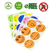 Mosquito Repellent Patches, Natural Non Toxic Mosquito Repellent Patches Stickers for Kids Adults Keeps Insects Bugs Far Away for Home Camping Fishing Travel (120)