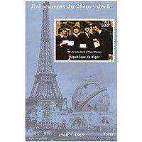 Beatles alla Torre Eiffel - Mint e timbro minifoglio smontato