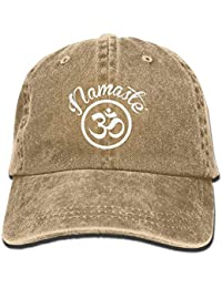 ZMYGH Namaste with Om Symbol Vintage Adjustable Jean Cap Baseball Cap For  Man and Woman a16c036e00c