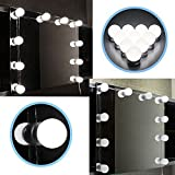 NEW ULTRA BRIGHT DIMMABLE LED Hollywood Mirror Bulbs Kit for Makeup Dressing Table Top Cosmetic Mirror Hollywood Style LED Vanity Mirror Lights Kit for Makeup Dressing Table Vanity Set