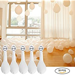 50 Pcs Globos Led Blancos Luz para Boda