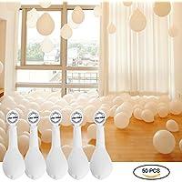 YOHOOLYO Lot de 50 Pcs Ballon LED Lumineux Blanc Décoration Lumineuse pour Mariage Fête et Soirée