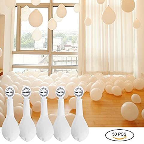 YOHOOLYO Lot de 50 Pcs Ballon LED Lumineux Blanc Décoration