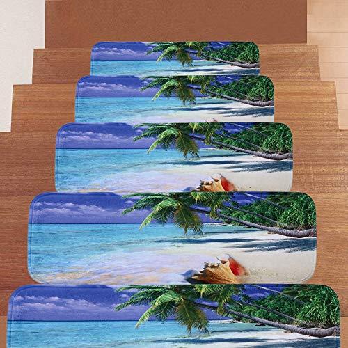 DZWLYX Treppenmatten Gummi Textilfaser - Stufenmatten,Stufenmatten Kleinformat Für Raumspartreppen/Wendeltreppen(22 X 70 cm) (Size : 15pieces)