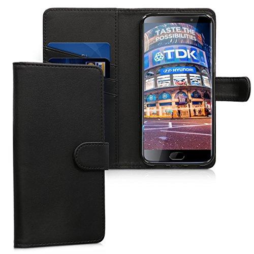 kwmobile Elephone S7 4G LTE Hülle - Kunstleder Wallet Case für Elephone S7 4G LTE mit Kartenfächern und Stand