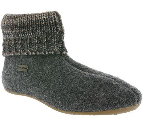 Haflinger Everest Karlos, Chaussons de chalet unisexe Grey