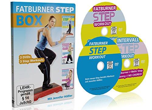 Jennifer Hößler: Die große Fatburner Step Box / 3 DVDs / 3 Step Aerobic Workouts ++ Im Set kaufen und sparen!