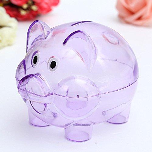 Bazaar Kinder Kinder Baby bewegliches netter Plastik Schwein Klare Sparschwein Münzen Box Storage Box Geld sparen Fall Spielzeug Geschenk