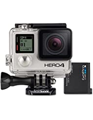 GoPro HERO4 Black Adventure Actionkamera (12 Megapixel, 41,0 mm x 59,0 mm x 29,6 mm) + GoPro HERO4 Actioncam-Akku (geeignet für HERO4 Black/HERO4 Silver)