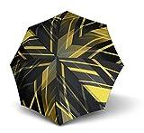 Knirps T200 Duomatic, Edinburgh Yellow (Schwarz / Gelb), Länge ca. 28 cm, Durchmesser ca. 5 cm
