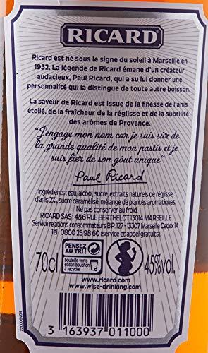 Ricard Provence Pastis de Marseille 70 cl - Pack 6 Verres + une Caraf