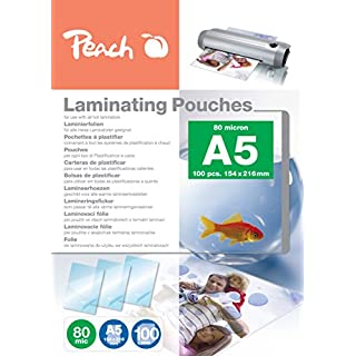 Peach PP580-03 Laminierfolien A5, 80 mic, 100 Stück