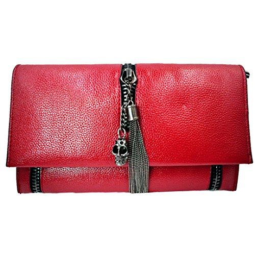 Meliya, Borsa a spalla donna rosso Red Red
