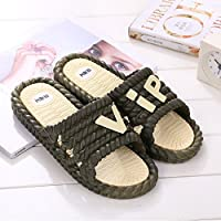 fankou Mr Home Couple Thick Female Slippers Bathroom Shower Plastic Cool Slippers Non-Slip Home Interior and Cool Drag and,40-41,F