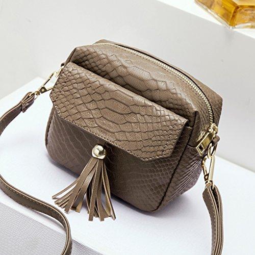 koreanische version des weiblichen paket kleinen quadratischen tasche umhängetasche beutel khaki.