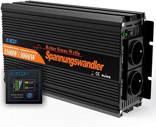 Wechselrichter reiner sinus 1500 3000W Spannungswandler 12V 230V Spannungswandler reiner sinus inverter pure sine wave
