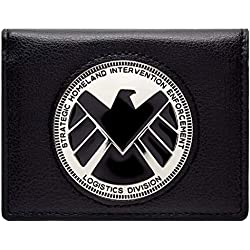 Cartera de Marvel Avengers Agents of Shield Phil Coulson Distintivo Negro