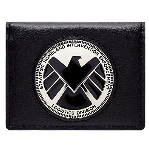 Avengers Agents of Shield Phil Coulson Abzeichen Schwarz Portemonnaie Geldbörse