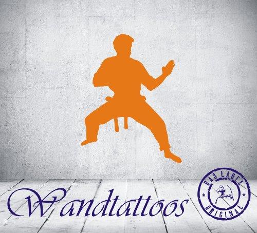 """das-label Wandtattoo Kampfkunst """"art 23"""" in 4 Größen martial art Kampfsport Kinderzimmer Tattoo, Indoor schwarz, Größe M"""