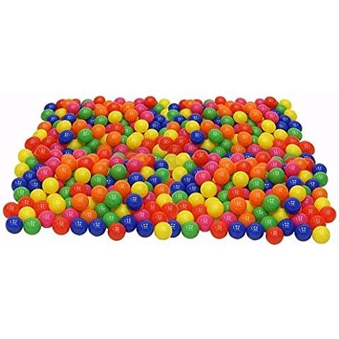 Koly 200pcs de la bola de color y diversión Pit juguete de la nadada de la bola de plástico blando Océano bola de niño del bebé de juguete
