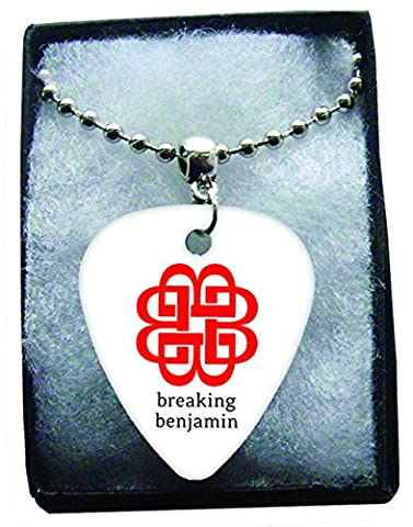 Breaking Benjamin Logo Metal Guitar Pick Necklace Ball Chain Collier Médiator