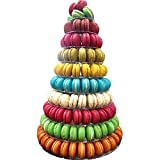 10 Tier Round Macaron Tower Stand Adjust tiers level Dia from 4'-13' Hold 110--236 macaons
