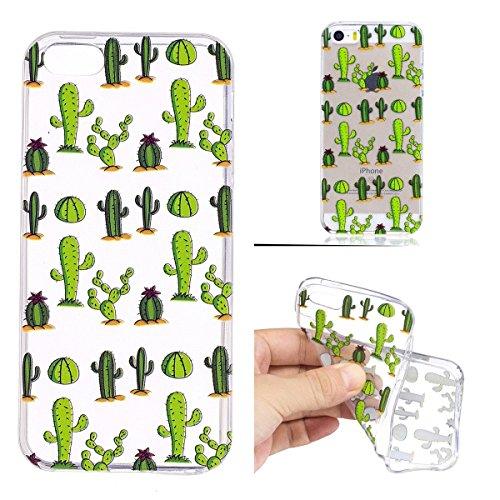 inShang iPhone 6 Plus iPhone 6s Plus custodia cover del cellulare, Anti Slip, ultra sottile e leggero, custodia morbido realizzata in materiale del TPU, frosted shell , conveniente cell phone case per cactus