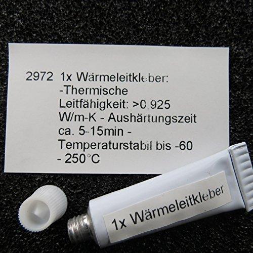 Unbekannt Wärmeleitkleber 5g Kleber CPU IC LED RAM Paste Wärmeleitfähig Kühlkörper Thermal Glue - Chipsatz Ram