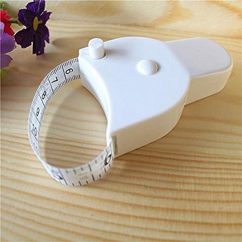 Wynce (TM) Pratico Nuovo mini panno cucito corpo Dieta sarto retrattile righello Misura Strumento 60inch 1.5M # 80526