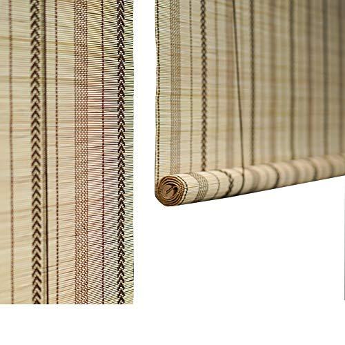 Seitenzug- & Springrollos Bambusvorhang Leichtes Filtern Von Roll-Up-Jalousien, Bambus-Rollos (gewebt), Multi-Size-Option (größe : 130x250cm)