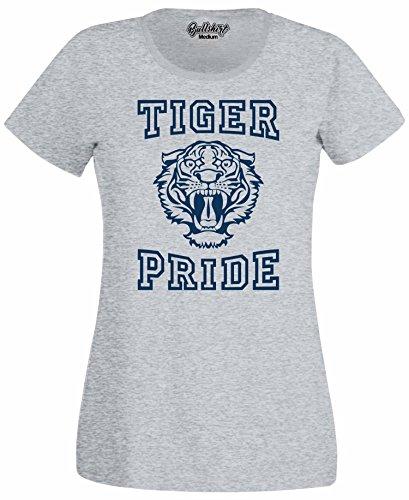 Bullshirt Damen Tiger Pride T-Shirt–Inspiriert von 13Gründe, warum Hellgrau