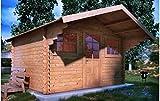 Mondocasette Casa Gartenhaus Genova Wandstärke 45 mm 380 x 380 cm, Holzbox