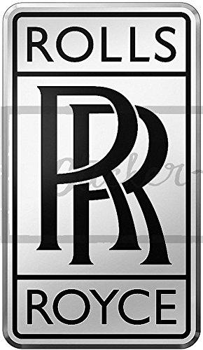 ! Folien-Aufkleber Wetterfest Made IN Germany Rolls-Royce-Logo La79-UV&Waschanlagenfest-Auto-Vinyl-Sticker Decal Profi Qualität bunt farbig Digital-Schnitt! ()