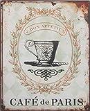 1art1 76281 Kaffee - Café De Paris Poster Blechschild 35 x 26 cm