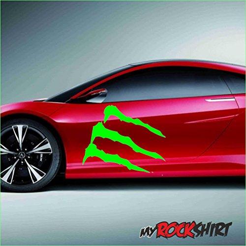 Monster garra XXL 60cm del coche con mensaje en muchos colores a...