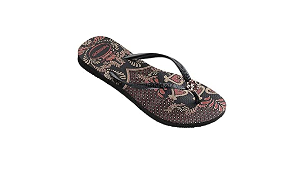eb7990bd52455 Havaianas Youth Slim Thematic Black Dark Grey