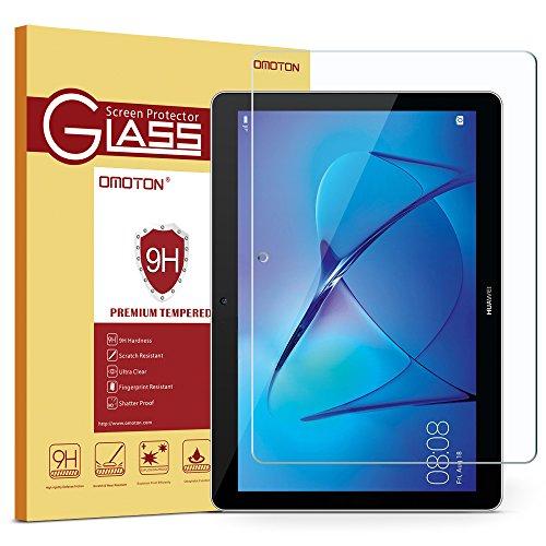 OMOTON Huawei MediaPad T3 10 9.6 Pouces Protection D'écran Verre Trempé [sans Bulles] Film Protecteur Ecran [Dureté 9H]