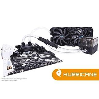 Alphacool 11345 Eissturm Hurricane Copper 45 2x140mm - Komplettset Wasserkühlung Sets und Systeme