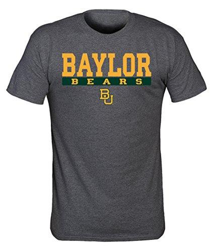 Preisvergleich Produktbild Old Varsity Brand NCAA Baylor Bears Herren NCAA Siebdruck Poly Baumwoll-Mischgewebe Tee,  Dark Heather,  XXL