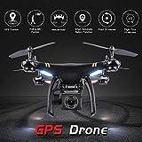Drone avec Caméra WiFi HD 1080P, Drone FPV RC drone Quadricoptère GPS Drone HD...